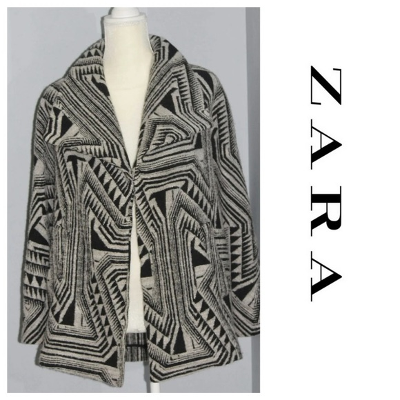 Zara Jackets & Blazers - Zara printed lapel wool coat